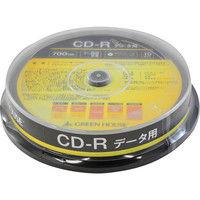 グリーンハウス CDーR データ用 700MB 1ー52倍速 10枚スピンドル インクジェット対応 GH-CDRDA10 1個  (直送品)