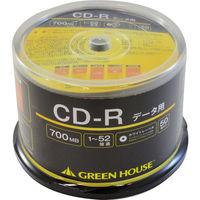 グリーンハウス CDーR データ用 700MB 1ー52倍速 50枚スピンドル インクジェット対応 GH-CDRDA50 1個  (直送品)