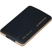 グリーンハウス USB3.0対応 小型外付ポータブルSSD 480GB ブラック 簡易パッケージ仕様 GH-SSDU3B480 1個  (直送品)