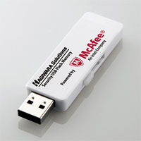 ハギワラソリューションズ ウイルス対策セキュリティUSB3.0メモリ(マカフィー)/2GB/1年ライセンス HUD-PUVM302GA1 1個  (直送品)