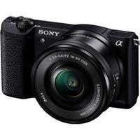 ソニー デジタル一眼カメラ α5100 パワーズームレンズキット ブラック ILCE-5100L/B 1台  (直送品)