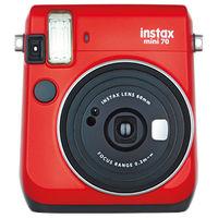 富士フイルム インスタントカメラ instax mini 70 レッド INS MINI 70 RED 1台  (直送品)