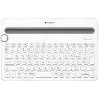 ロジクール Bluetooth マルチデバイスキーボード ホワイト K480WH 1台  (直送品)