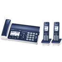 パナソニック デジタルコードレス普通紙ファクス(子機2台付き)(ネイビーブルー) KX-PD505DW-A 1台  (直送品)