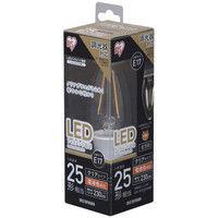 アイリスオーヤマ LEDフィラメント電球 E17 25形相当 電球色 調光クリア LDC2L-G-E17/D-FC 1個  (直送品)