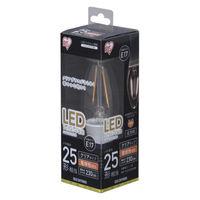 アイリスオーヤマ LEDフィラメント電球 E17 25形相当 電球色 非調光クリア LDC2L-G-E17-FC 1個  (直送品)