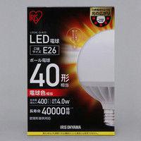 アイリスオーヤマ LEDボール球 40形相当 電球色 LDG4L-G-4V3 1個  (直送品)