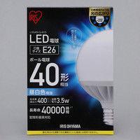 アイリスオーヤマ LEDボール球 40形相当 昼白色 LDG4N-G-4V3 1個  (直送品)