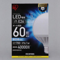 アイリスオーヤマ LEDボール球 60形相当 昼白色 LDG7N-G-6V3 1個  (直送品)
