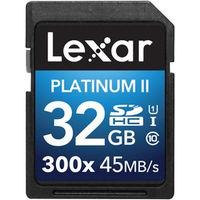 レキサー Platinum II 300x SDHC UHSーIカード 32GB LSD32GBBJP300 1個  (直送品)