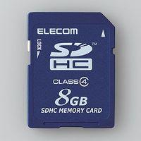 エレコム SDHCカード/Class4/8GB/法人専用/簡易パッケージ MF-FSD008GC4/H 1個  (直送品)