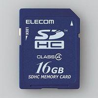 エレコム SDHCカード/Class4/16GB/法人専用/簡易パッケージ MF-FSD016GC4/H 1個  (直送品)