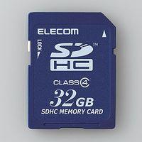 エレコム SDHCカード/Class4/32GB/法人専用/簡易パッケージ MF-FSD032GC4/H 1個  (直送品)