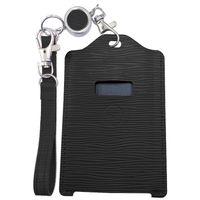 ユニーク 電子マネーカード専用残高表示機能付きパスケースmiruca(ミルカ&ミルカプラス)専用レザーカバー ブラック MIRUCALCBK 1個  (直送品)