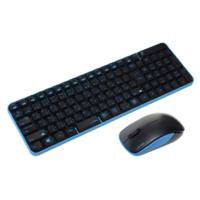 ユニーク ワイヤレスマウス&キーボードコンボ サイレントモデル Black&Blue MK48367GBS 1個  (直送品)