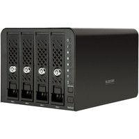 エレコム Linux搭載NAS/4Bay/12TB NSR-6S12T4BLB 1台  (直送品)