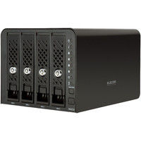 エレコム Linux搭載NAS/4Bay/4TB NSR-6S4T4BLB 1台  (直送品)