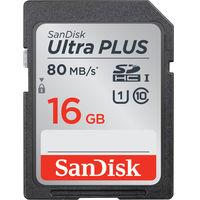 サンディスク ウルトラ プラス SDHC UHSーI カード 16GB SDSDUSC-016G-JNJIN 1枚  (直送品)