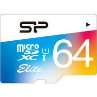 シリコンパワー 【UHSー1対応】microSDXCカード 64GB Class10 colorful SP064GBSTXBU1V20SP 1本  (直送品)