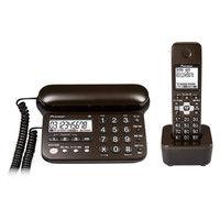 パイオニア デジタルコードレス留守番電話機(子機1台) ダークブラウン TF-SD15S-TD 1個(直送品)