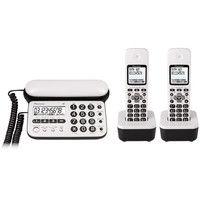 パイオニア デジタルコードレス留守番電話機(子機2台) ピュアホワイト TF-SD15W-PW 1個  (直送品)