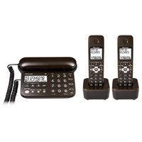 パイオニア デジタルコードレス留守番電話機(子機2台) ダークブラウン TF-SD15W-TD 1個(直送品)