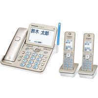 パナソニック コードレス電話機(子機2台付き)(シャンパンゴールド) VE-GD76DW-N 1台  (直送品)