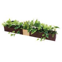 グリーンモード グリーンポット デザインポット4739 ブラウン 人工観葉植物 1個 (直送品)