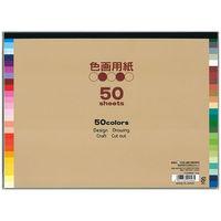 50色色画用紙 EI-50-50 2冊 エヒメ紙工 (直送品)