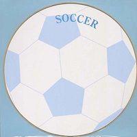 丸型色紙 サッカー EM-SS02 5枚 エヒメ紙工 (直送品)
