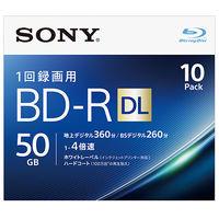ソニー ビデオ用BDーR 追記型 片面2層50GB 4倍速 ホワイトワイドプリンタブル 10枚パック 10BNR2VJPS4 1式  (直送品)