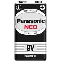 パナソニック マンガン乾電池 ネオ黒 9V形 1本シュリンクパック 6F22NB/1S 1個  (直送品)