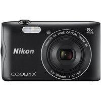 ニコン デジタルカメラ COOLPIX A300 ブラック COOLPIXA300BK 1式  (直送品)