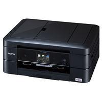 ブラザー A4インクジェット複合機/黒モデル/10/12ipm/両面印刷/有線・無線LAN/ADF/手差し/レーベル印刷 DCP-J968N-B  (直送品)