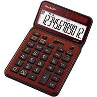 シャープ 電卓 12桁 (ナイスサイズタイプ) ブラウン EL-VN-82-TX 1台(直送品)