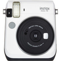 富士フイルム インスタントカメラ instax mini 70 ホワイト INS MINI 70 WHITE 1台  (直送品)