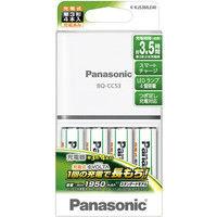 パナソニック 単3形ニッケル水素電池4本付充電器セット K-KJ53MLE40 1式  (直送品)