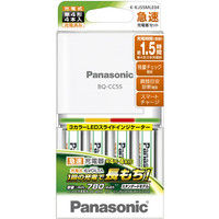 パナソニック 単4形ニッケル水素電池4本付急速充電器セット K-KJ55MLE04 1式  (直送品)