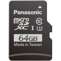 パナソニック 64GB microSDXC UHSーI メモリーカード RP-SMGB64GJK 1枚  (直送品)