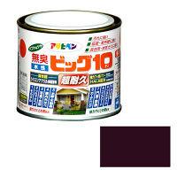 アサヒペン 水性ビッグ10多用途 1/5L (チョコレート色) 9011198 (直送品)