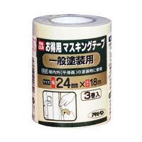 アサヒペン PCお徳用マスキングテープ 24X3巻入り (一般塗装用) 901161 (直送品)