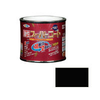 アサヒペン 油性スーパーコート 1/5L (ツヤ消し黒) 9011821(直送品)