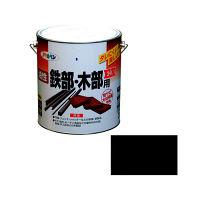 アサヒペン 油性鉄部・木部用EX 3L (黒) 9016493(直送品)