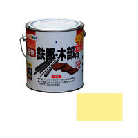 アサヒペン 油性鉄部・木部用EX 0.7L (クリーム色) 9016523(直送品)
