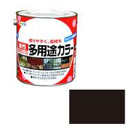 アサヒペン 油性多用途カラー 1.6L (ツヤ消し黒) 9016587(直送品)