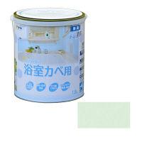 アサヒペン NEW水性インテリアカラー浴室カベ 1.6L (ライトグリーン) 9017703 (直送品)