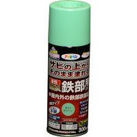 アサヒペン 油性高耐久鉄部用スプレー 300mL (ライトグリーン) 9017917 (直送品)