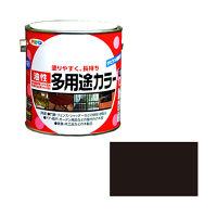 アサヒペン 油性多用途カラー 0.7L (ツヤ消し黒) 9016617(直送品)
