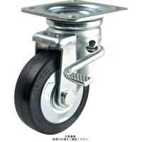 ナンシン(nansin) 産業用キャスター自在ストッパー付タイプ 150mmゴム(B入)車輪付 STM-150VSW-3 1セット(4個)(直送品)