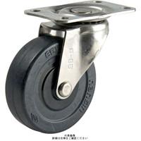 ナンシン(nansin) ステンレスキャスター自在タイプ 100mmエラストマー車輪付 SU-TEL-100TP 1セット(4個)(直送品)